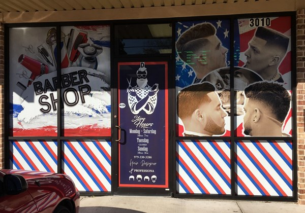 Barber Shop window graphics